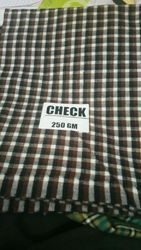 Check Acrylic Fabric for Shirts, Packaging Type: Plastic Bag