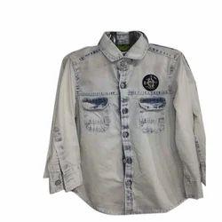 Embroidered Rayon Boys Shirt, Size: Medium