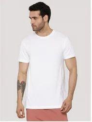 Plain White Unisex Basic Round Neck T-shirt