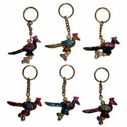 Meena Peacock Keychain