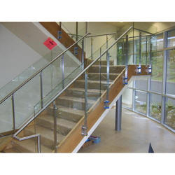 Stainless Steel Glass Railing, Material Grade: Ss 316