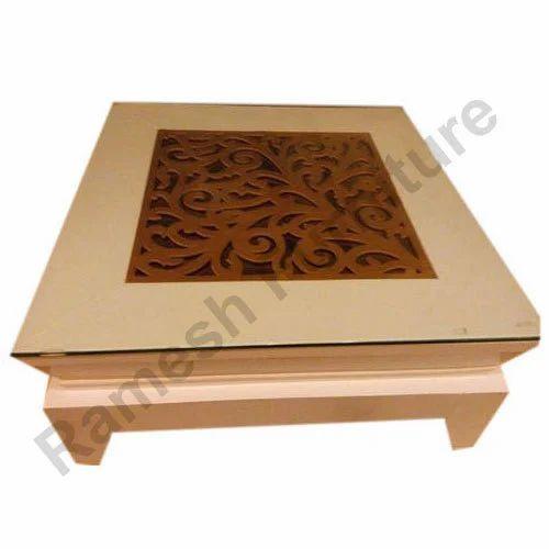Teak Wood Brown Center Table