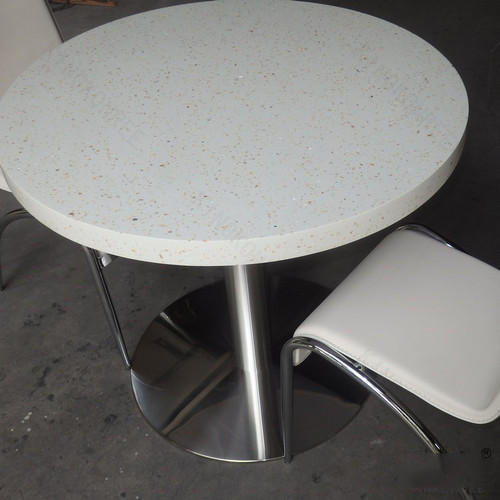 Ceramic Solid Surface Round Study Table