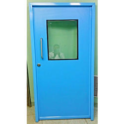Metal Blue Single Leaf Hospital Door