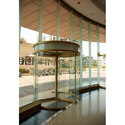 Transparent Security Revolving Glass Door, For Office