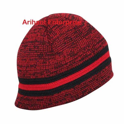 745c4369251 Arihant Brown Acrylic Woolen Winter Skull Cap
