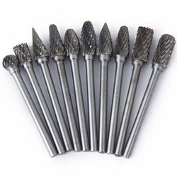 Tungsten Carbide Burr Cylindrical Shape With Endcut Type B - 9.6 X 13.5 X 6mm Shank