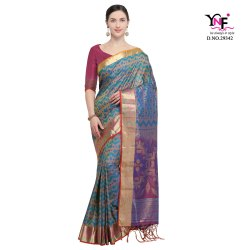 Ikkat Vol.2 Nylon Soft Silk Saree