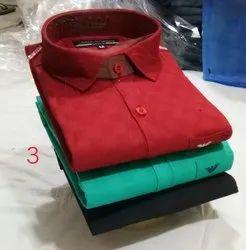 Casual Wear Collar Neck Mens Casual Plain Print Check Copy Shirts