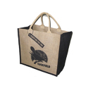 Vision Black And Cream Jute Bigshopper Bag