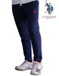 Cotton Plain Blue Trouser