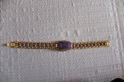 Ladies Golden Watch Designed Bracelet