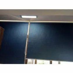 Blue Window Roller Blind