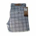 Men's Grey Checked Trouser