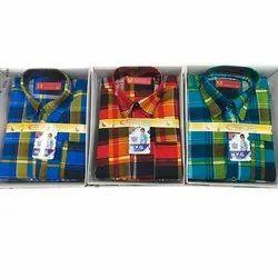 MVG Casual Wear Kids Check Casual Cotton Shirt