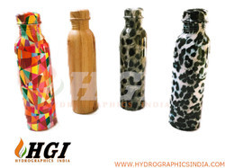 water transfer hydro graphics printing for copper bottle