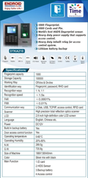 Endroid DTKA210 Attendance Recording System
