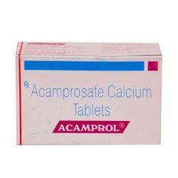 Acamprol Acamprosate Calcium Tablets, Packaging Type: Box