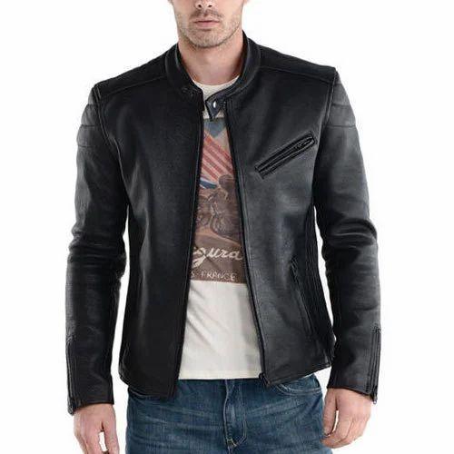 Black Full Sleeve Boy Slim Fit Leather Jacket Rs 3500 Piece Id
