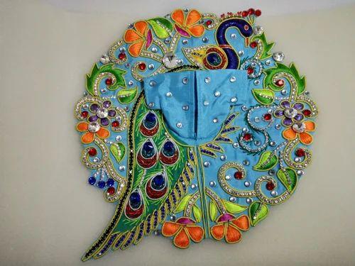Multicolor SHRI SHUBH LABH ENTERPRISES Very Premium Quality Handmade Designer Peacock Bal Gopal Ji Dress, Size: 4, 5