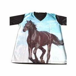 Half Sleeve Printed Casual Wear T Shirt, Size: S - XXXL