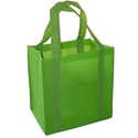 Green Loop Handle Non Woven Bag