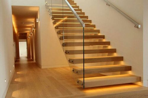 Ms With Wood Floating Hanging Cantilever Staircase Rs