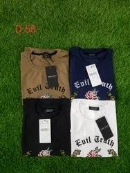 Branded T-shirt Hosiery Branded T-shirts, Age Group: 18 To 65