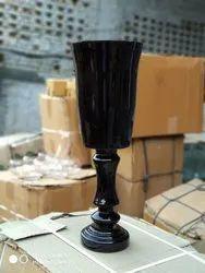 Hurricane Tall Glass Vase