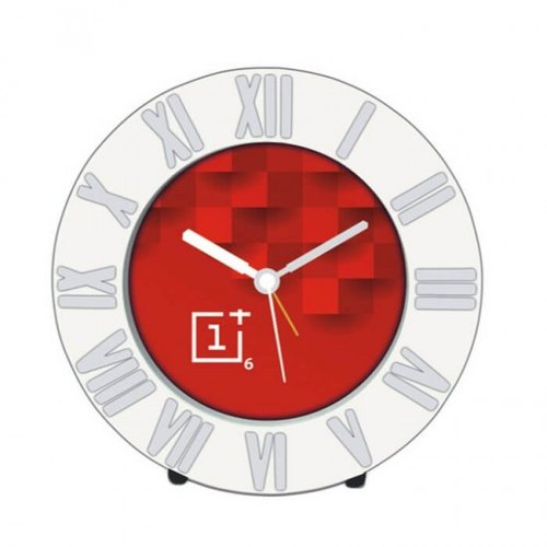 Red One Plus Six Table Clock