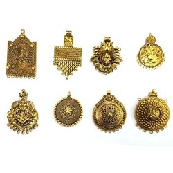 Yash Impex Antique Gold Charms Pendant