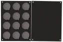 Kiri Cosmetics Black 12 Grid Empty Magnet Eyeshadow Freedom Palette(small)