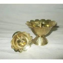 Golden Pooja Diya