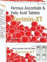 Tablets Ferrous Ascorbate 100 mg. Folic Acid 1.5 mg., 10x1x10, Packaging Type: Alu Au Pack