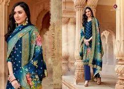 Kala Fashion Kala Gold Banarasi Jacquard Designer Fancy Salwar Kameez