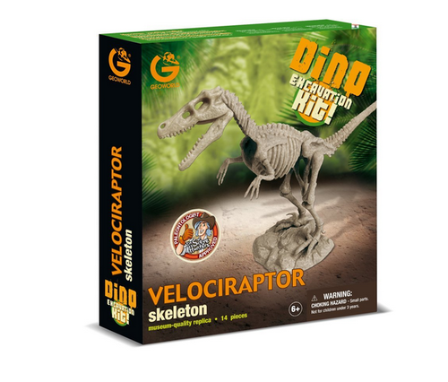 Geoworld Dino Excavation Kit Velociraptor Skeleton