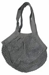 100% Cotton Grey Net String Grocery Tote Bags