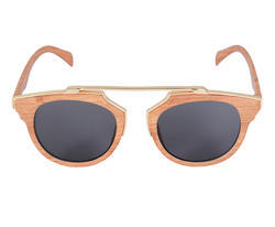 Artificial Wood Clubmaster bamboo Sunglasses