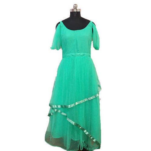 34220e8a824de Party Wear Xl Ladies Green Gown, Rs 8000 /piece, Money Growth ...