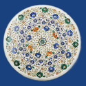 Round Makrana Inlay Table Tops