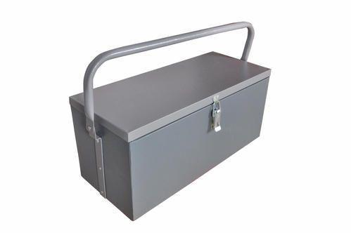 VI METAL Grey Portable Metal Tool Box