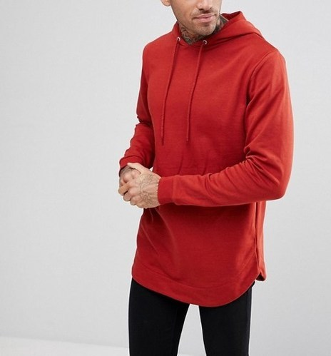 9e22fc9c Cotton Men's Pullover Extra Long Hoodie With Curved Hem, Rs 520 ...