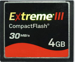 Compact Flash Card Industrial 4gb Extreme Iii 30mb/s
