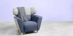 Godrej Standard Color Single Seater Fabric Sofa, For Home