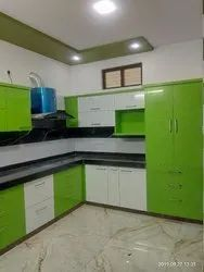 Acrylic Finish L Shape Modular Kitchen