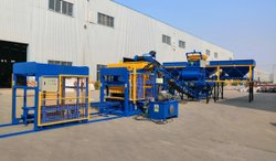 Fully Automatic Fly Ash Bricks Making Machine With Batching Plant And Auto Stacker