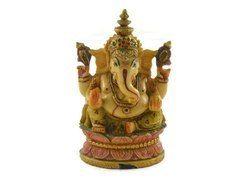 Handmade Resin Idol of Lord Ganesha Handpainted