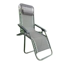 Gravity Folding Outdoor Recliner Chair