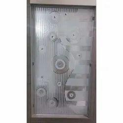 Printed Polished Acid Texture Glass