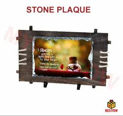 Customized Wooden Mounted Stone Plaque